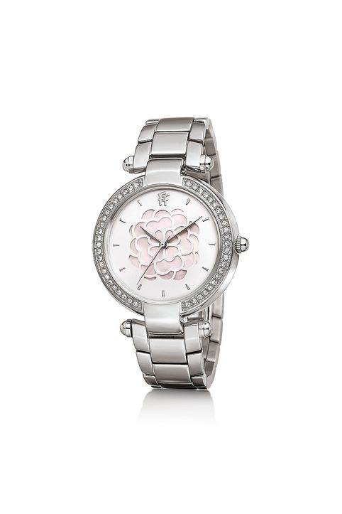 FOLLI FOLLIE - Γυναικείο ρολόι με μπρασελέ από ατσάλι FOLLI FOLLIE SANTORINI FLOWER ασημί