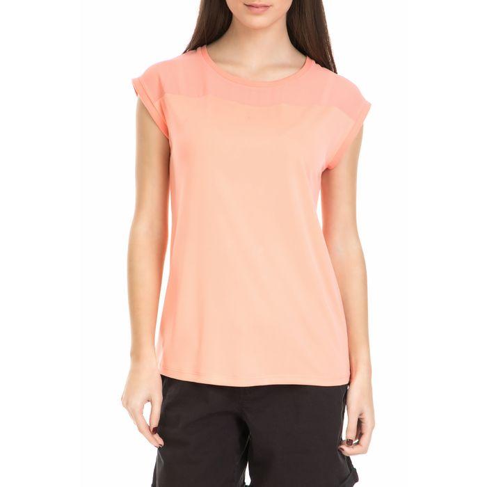GARCIA JEANS - υναικεία κοντομάνικη μπλούζα Garcia Jeans ροζ