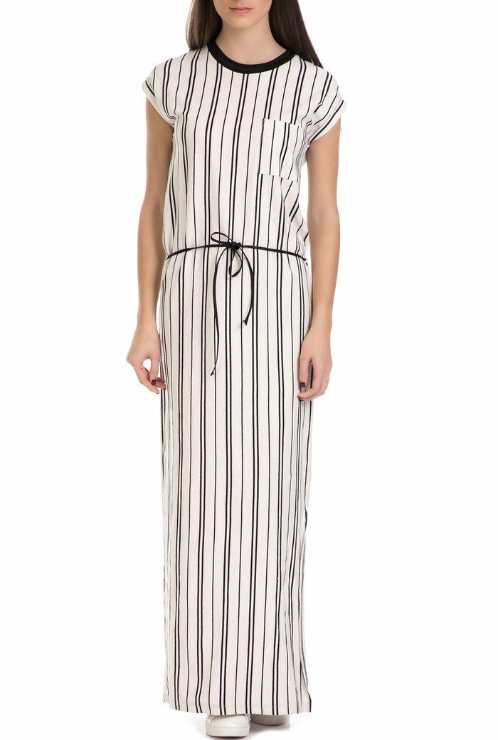 GARCIA JEANS - Γυναικείο μακρύ ριγέ φόρεμα Garcia Jeans μαύρο - άσπρο