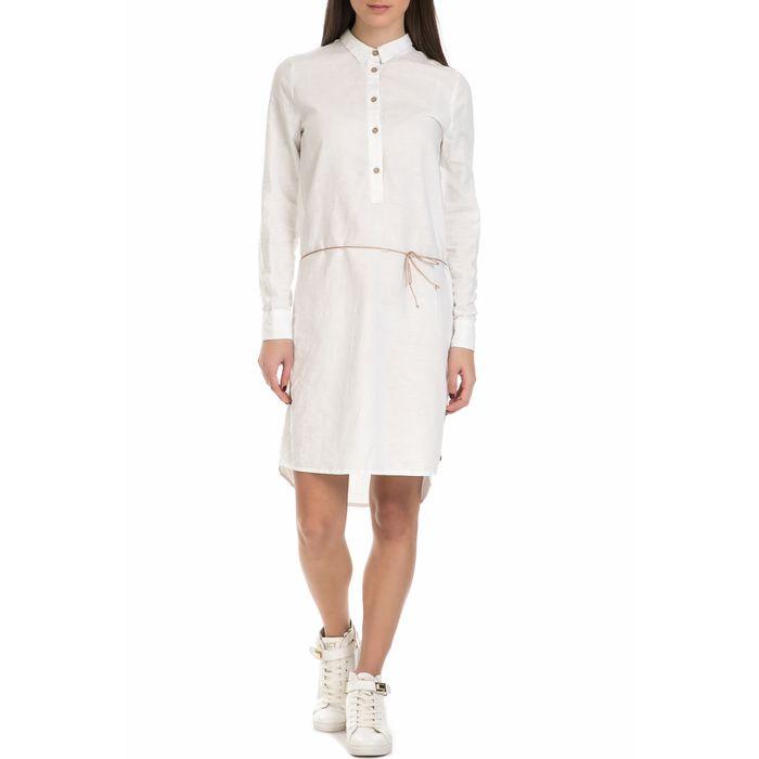GARCIA JEANS - Γυναικείο μίνι φόρεμα Garcia Jeans λευκό