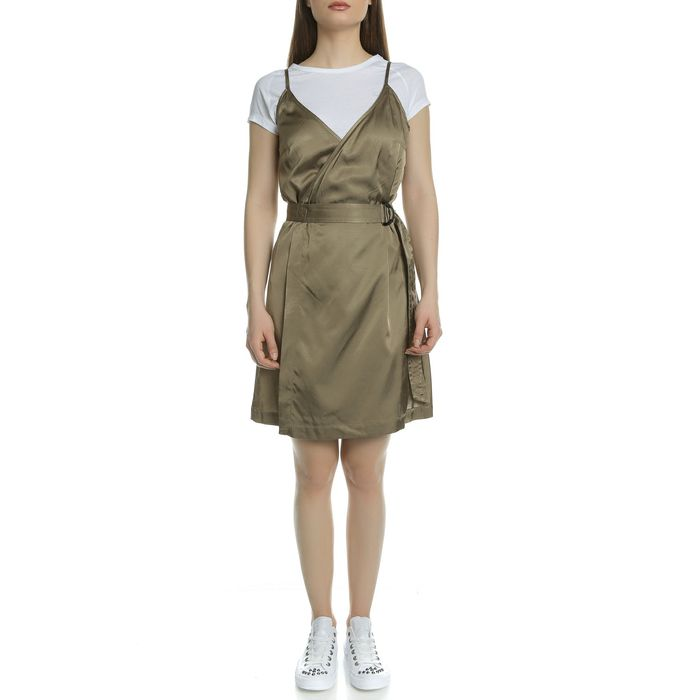 G-STAR - Γυναικείο μίνι φόρεμα G-Star μπεζ