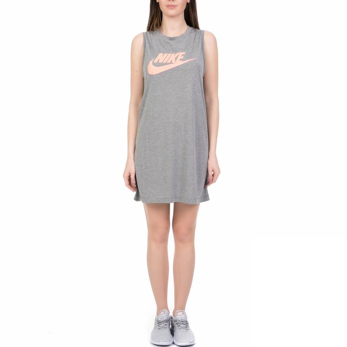 NIKE - Γυναικείο αμάνικο φόρεμα Nike Sportswear γκρι