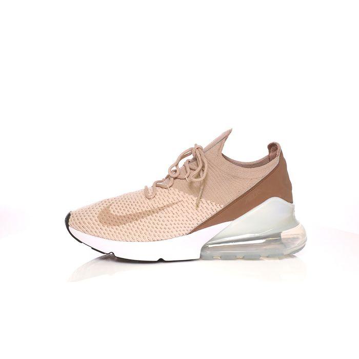 NIKE - Γυναικεία παπούτσια για τρέξιμο AIR MAX 270 FLYKNIT μπεζ