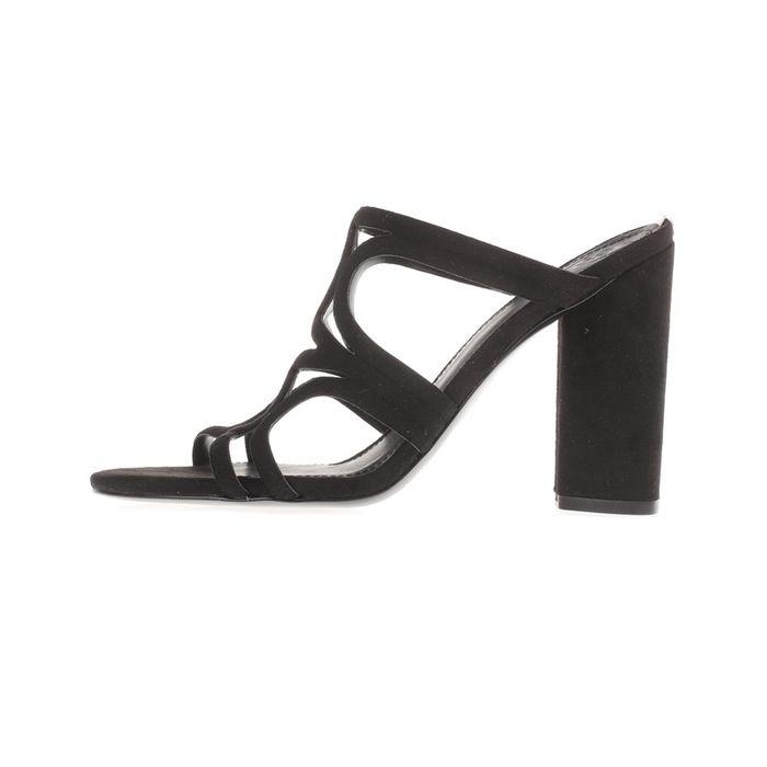 GUESS - Γυναικεία peep toe mules ANTONYA GUESS μαύρα