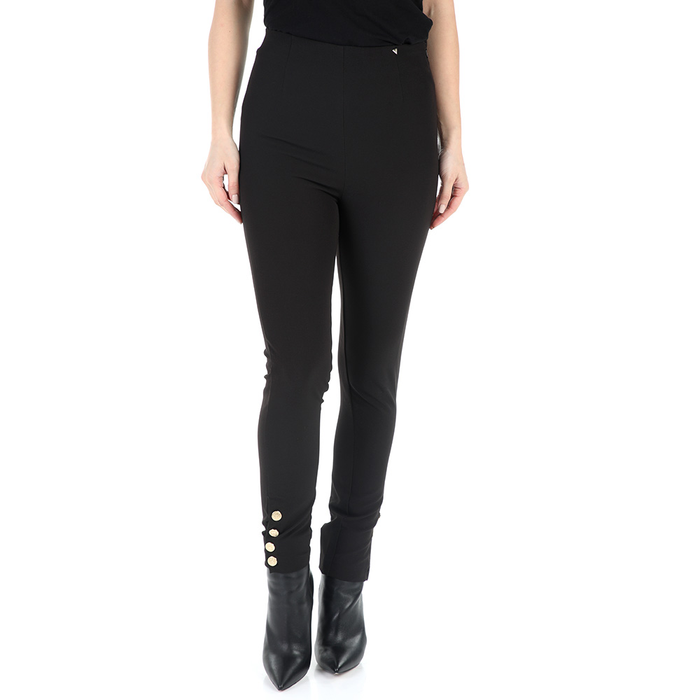 GUESS - Γυναικείο παντελόνι κολάν GUESS GOLDEN BUTTON μαύρο