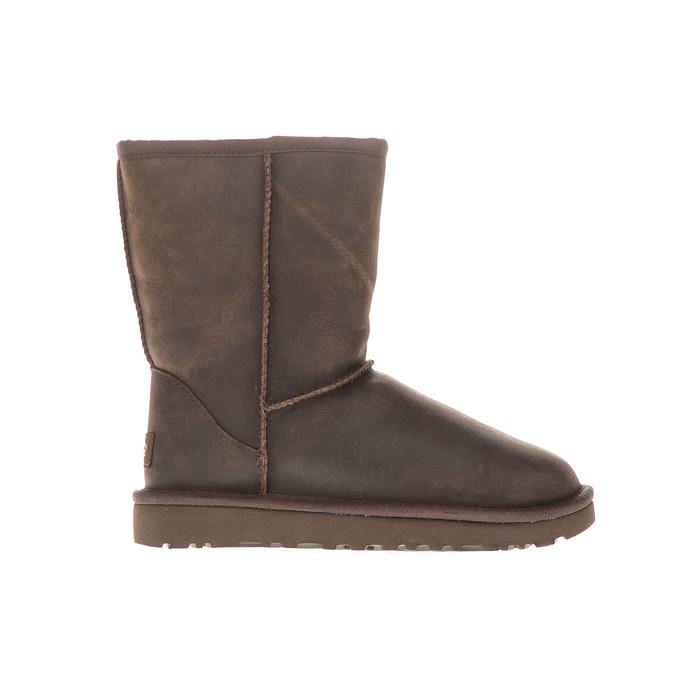 UGG - Γυναικεία μποτάκια Classic Short Leather καφέ