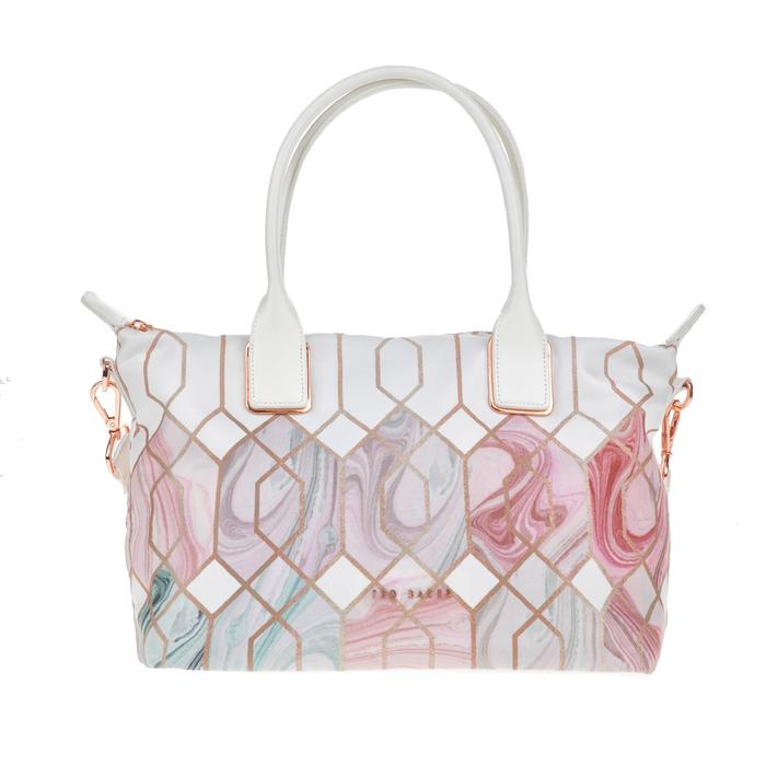 TED BAKER - Γυναικεία τσάντα ώμου SHELBEE SEA OF CLOUDS με μοτίβο
