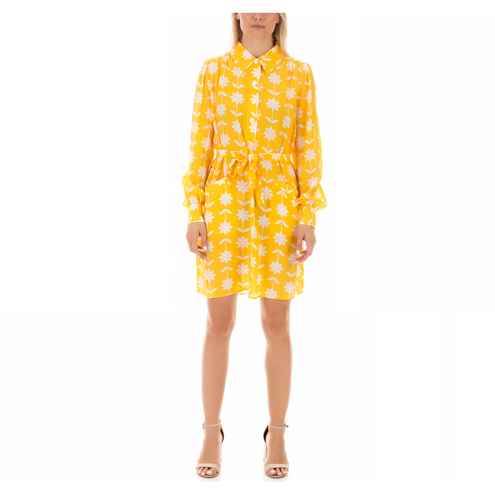 JUICY COUTURE - Γυναικείο μίνι φόρεμα JUICY COUTURE MARIGOLD κίτρινο floral