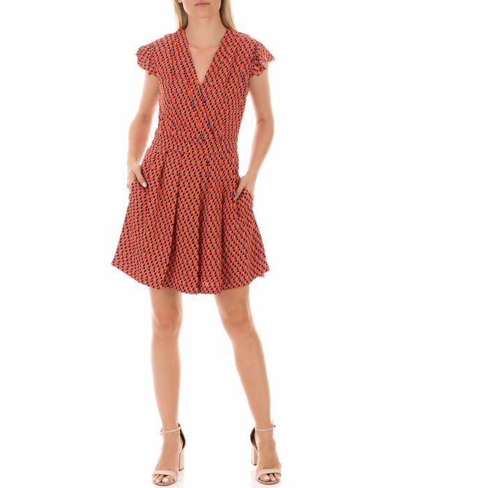 JUICY COUTURE - Γυναικείο μίνι φόρεμα JUICY COUTURE εμπριμέ μπλε - κόκκινο