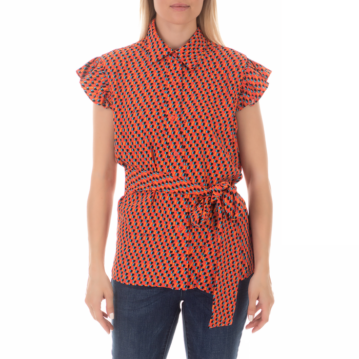 JUICY COUTURE - Γυναικείο αμάνικο πουκάμισο JUICY COUTURE GEO PRINT κόκκινο