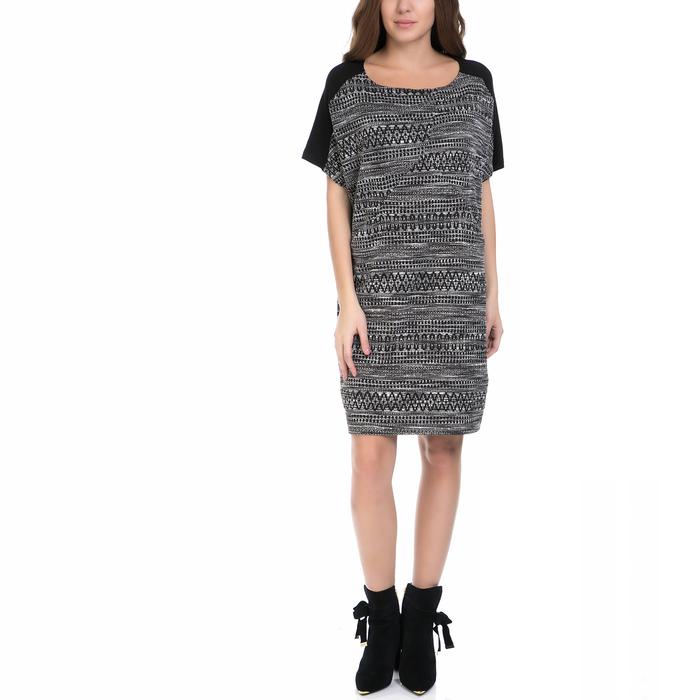 VINTAGE SUGAR - Γυναικείο φόρεμα VINTAGE SUGAR μαύρο-λευκό