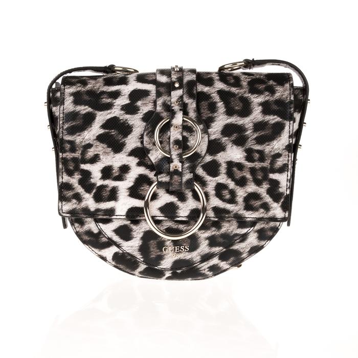 GUESS - Γυναικεία τσάντα χιαστί GUESS DIXIE μπεζ καφέ