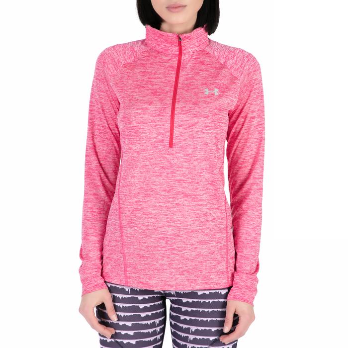 UNDER ARMOUR - Γυναικεία αθλητική μακρυμάνικη μπλούζα Tech 1/2 Zip -Twist ροζ