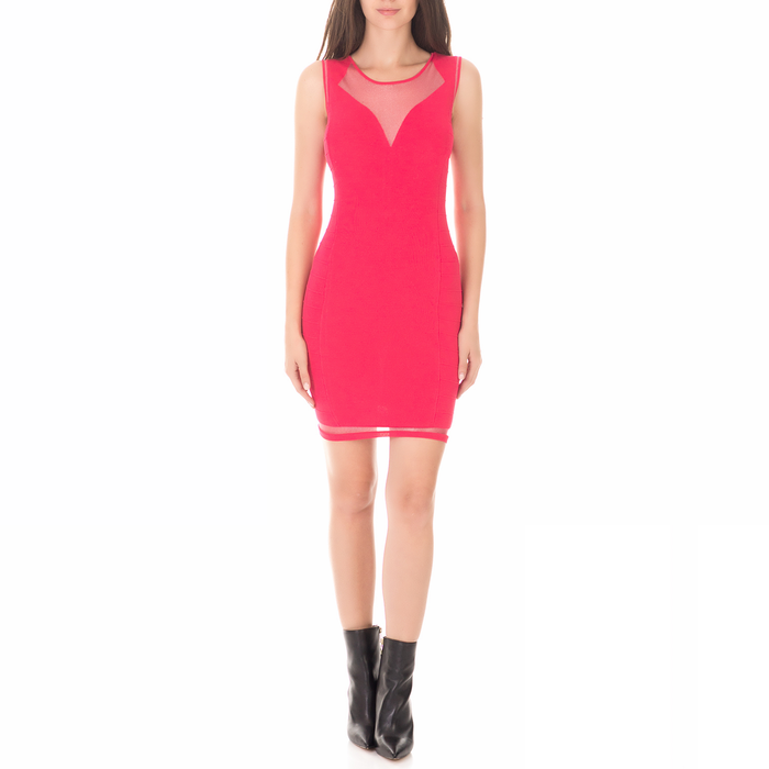 GUESS - Γυναικείο μίνι φόρεμα GUESS BAYLEE κόκκινο