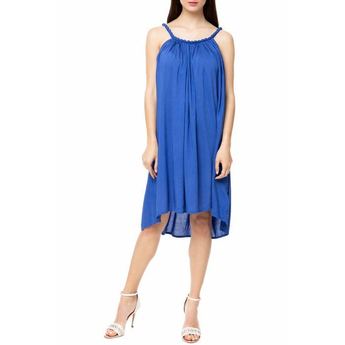MOLLY BRACKEN - Γυναικείο μίνι φόρεμα MOLLY BRACKEN μπλε