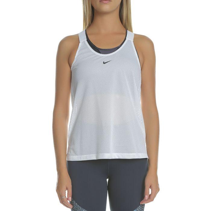 NIKE - Γυναικεία αμάνικη μπλούζα NIKE TANK ELSTKA MESH λευκό