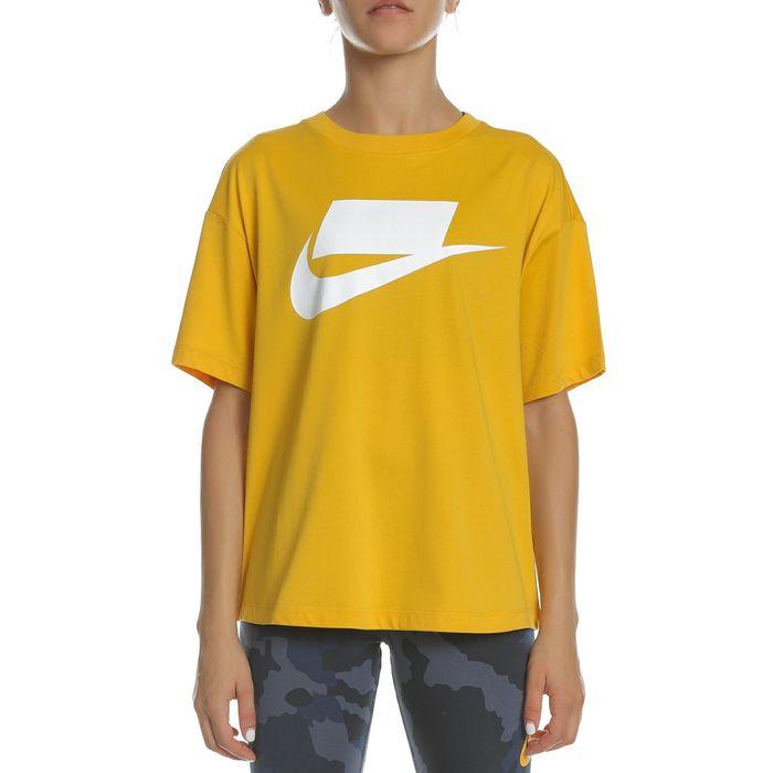 NIKE - Γυναικεία κοντομάνικη μπλούζα NIKE NSW TOP SS GX κίτρινη