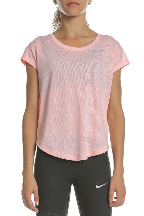 NIKE - Γυναικεία κοντομάνικη μπλούζα TAILWIND TOP SS COOL LX ροζ