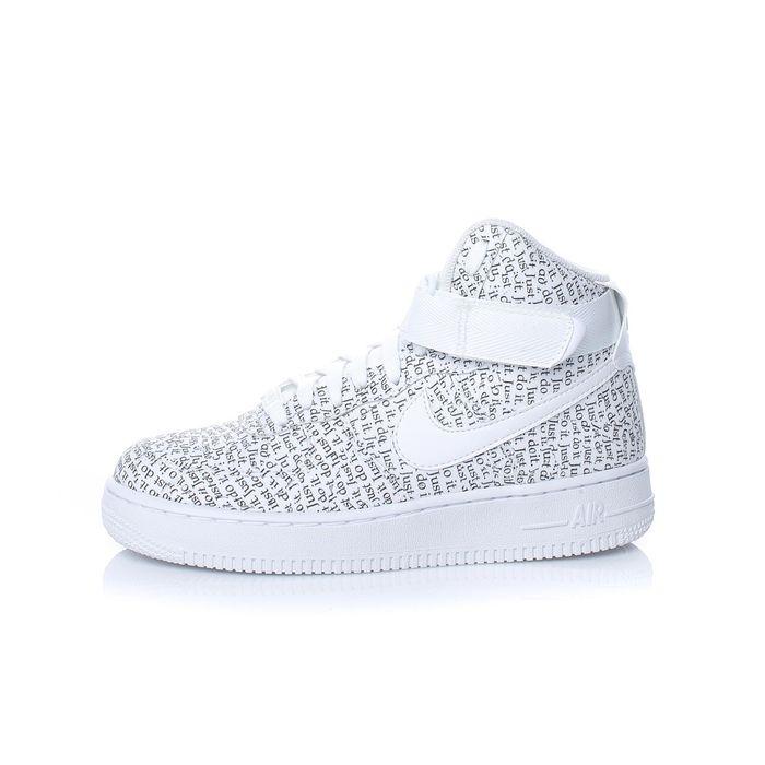 NIKE - Γυναικεία παπούτσια NIKE AIR FORCE 1 HI LX λευκά με print