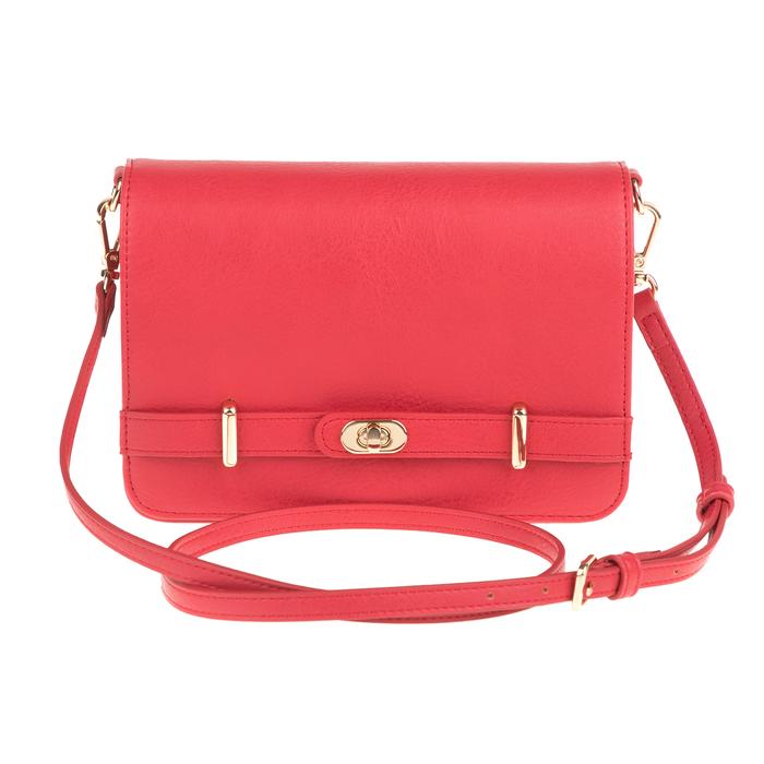 FOLLI FOLLIE - Γυναικεία τσάντα χιαστί FOLLI FOLLIE κόκκινη