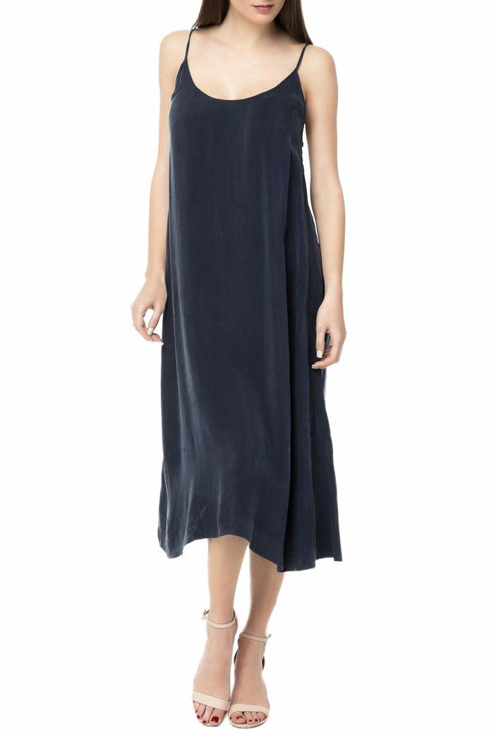 AMERICAN VINTAGE - Γυναικείο midi φόρεμα AMERICAN VINTAGE σκούρο μπλε