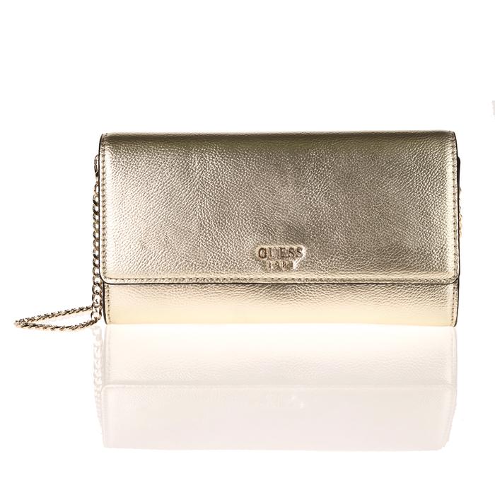 GUESS - Γυναικεία τσάντα φάκελος GUESS STARRY NIGHT χρυσή