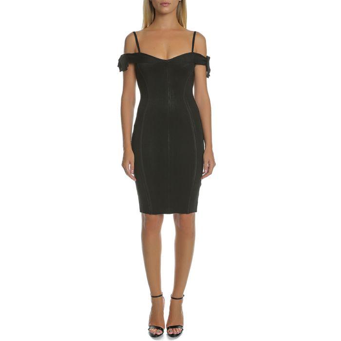 GUESS - Γυναικείο μίνι φόρεμα GUESS BRITNEY μαύρο