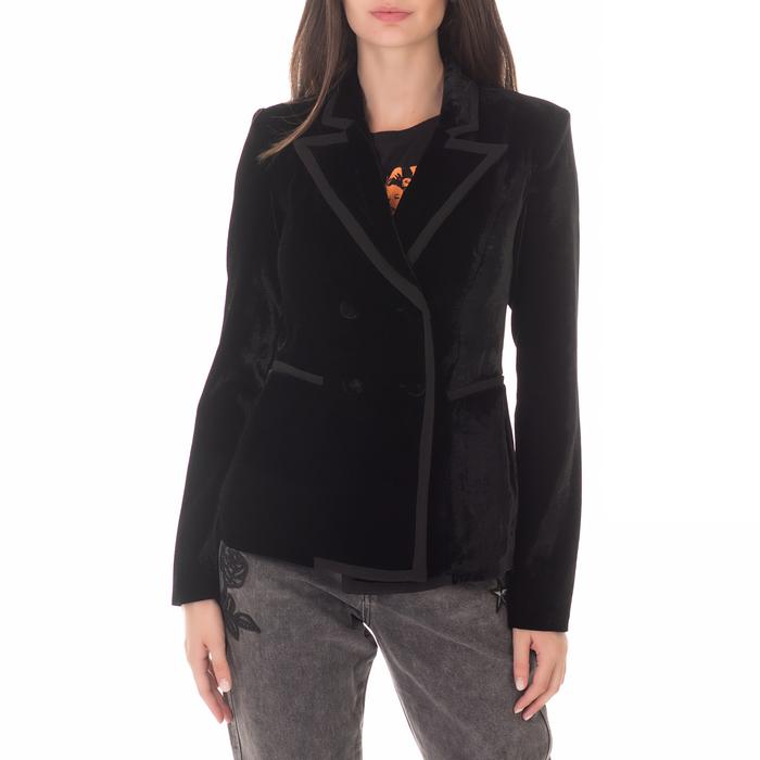 GUESS - Γυναικείο βελούδινο σακάκι GUESS VERONICA μαύρο