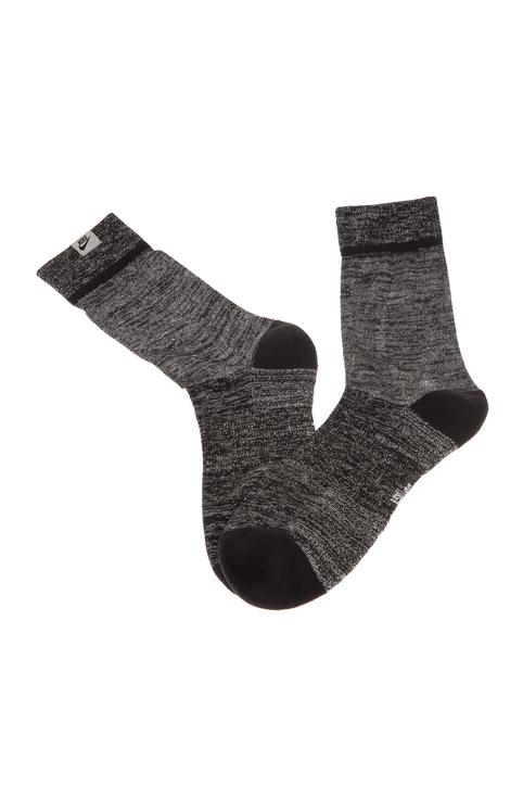 NIKE - Unisex κάλτσες NIKE U SNKR SOX CREW - METALLIC μαύρο ασημί
