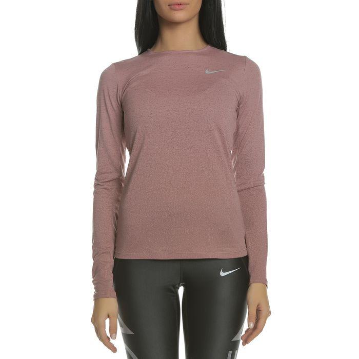 NIKE - Γυναικεία μακρυμάνικη μπλούζα NIKE MEDALIST TOP LS ροζ