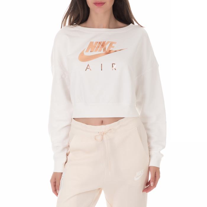 NIKE - Γυναικεία φούτερ μπλούζα NIKE AIR RALLY CREW λευκή