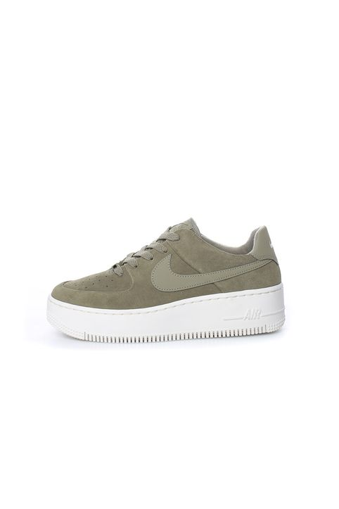 NIKE - Γυναικεία σουέντ παπούτσια Nike Air Force 1 Sage Low Wome χακί