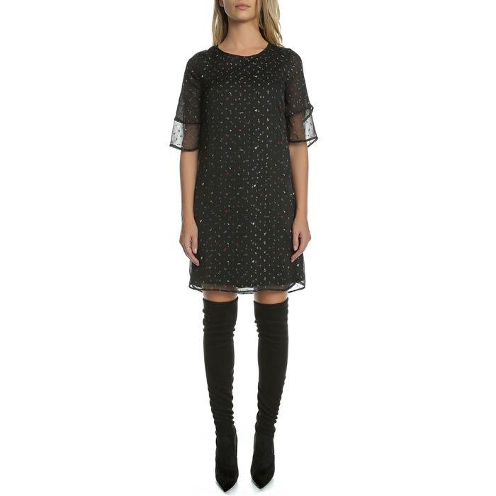 GARCIA JEANS - Γυναικείο μίνι φόρεμα GARCIA JEANS μαύρο