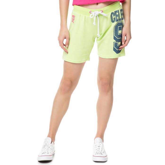 BODYTALK - Γυναικεία αθλητική βερμούδα FIESTAW λαχανί