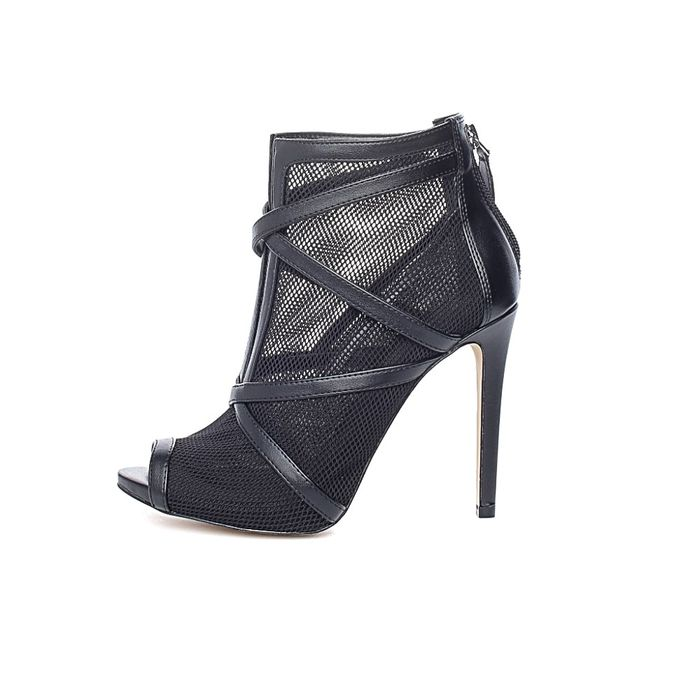 GUESS - Γυναικεία peep-toe μποτάκια ADALIND2 GUESS μαύρα