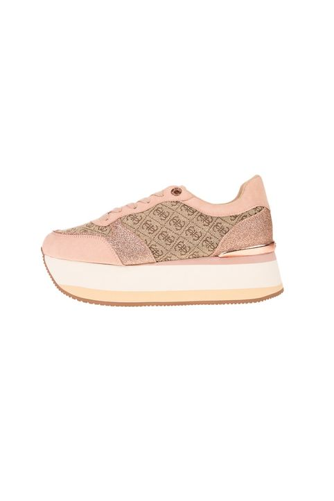 GUESS - Γυναικεία sneakers GUESS HINDERS μπεζ