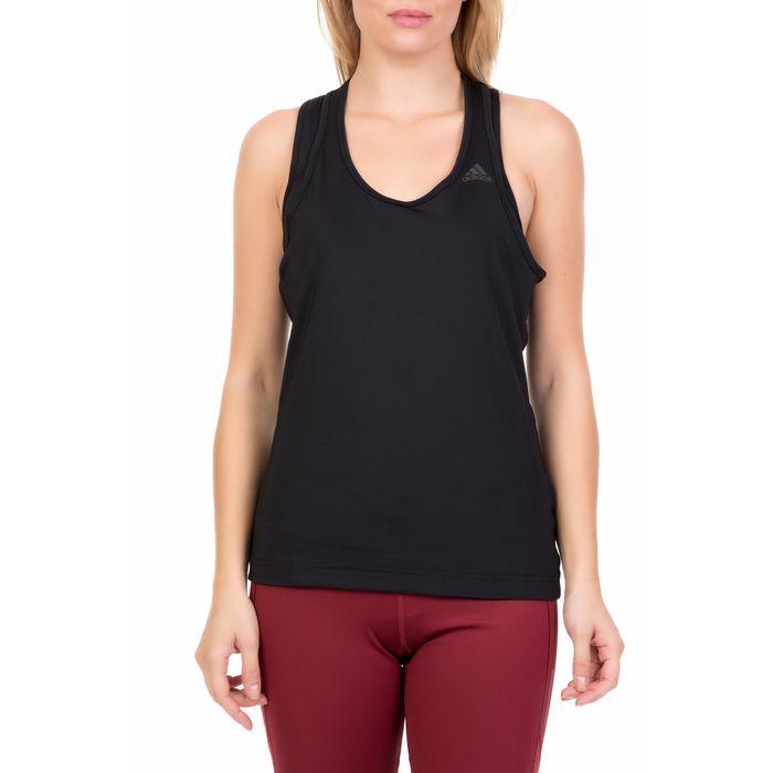 adidas Performance - Γυναικεία αμάνικη μπλούζα TANK SOLID μαύρη