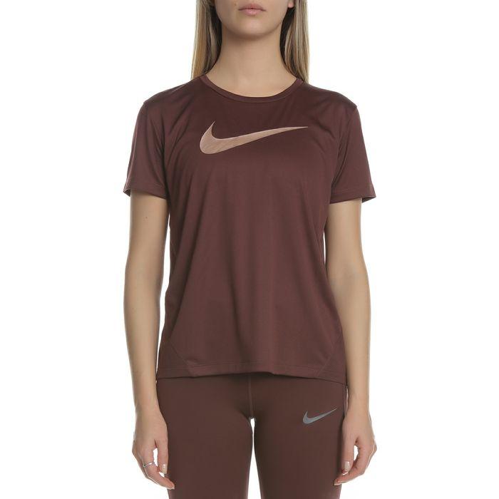 NIKE - Γυναικείο t-shirt Nike Miler μπορντό