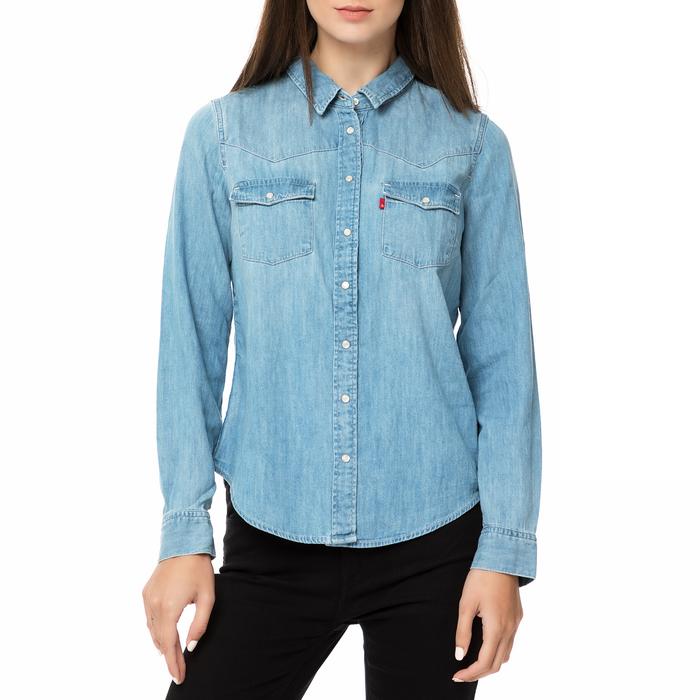 LEVI'S - Γυναικείο τζιν πουκάμισο Levi's MODERN WESTERN SEASCAPE μπλε ανοιχτό