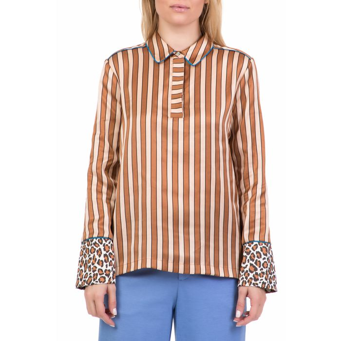 SCOTCH & SODA - Γυναικεία πουκαμίσα SCOTCH & SODA μπεζ