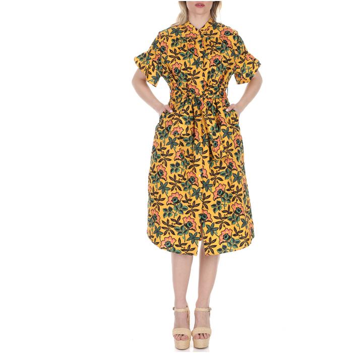 SCOTCH & SODA - Γυναικείο midi φόρεμα SCOTCH & SODA κίτρινο