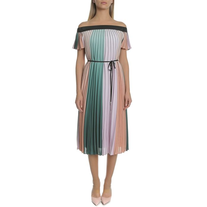 TED BAKER - Γυναικείο μίντι φόρεμα TED BAKER FERNEE πολύχρωμο