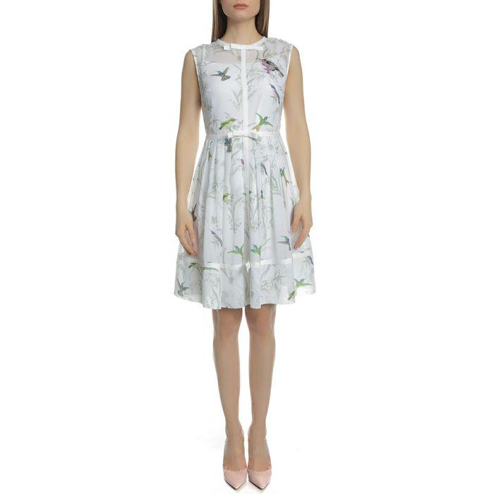 TED BAKER - Γυναικείο μίνι φόρεμα TED BAKER ALEKSA λευκό