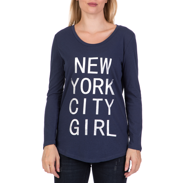 DEVERGO JEANS - Γυναικεία μακρυμάνικη μπλούζα DEVERGO JEANS μπλε