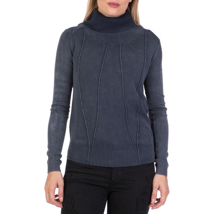 DEVERGO JEANS - Γυναικείο πουλόβερ με ζιβάγκο DEVERGO JEANS γκρι
