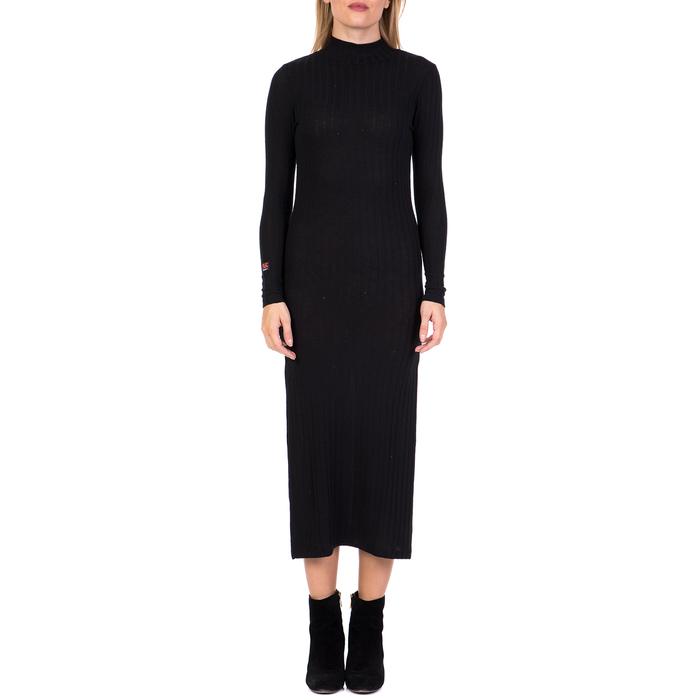 DEVERGO JEANS - Γυναικείο μακρύ φόρεμα DEVERGO JEANS μαύρο