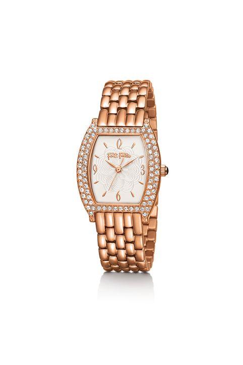 FOLLI FOLLIE - Γυναικείο ρολόι μπρασελέ FOLLI FOLLIE ροζ-χρυσό