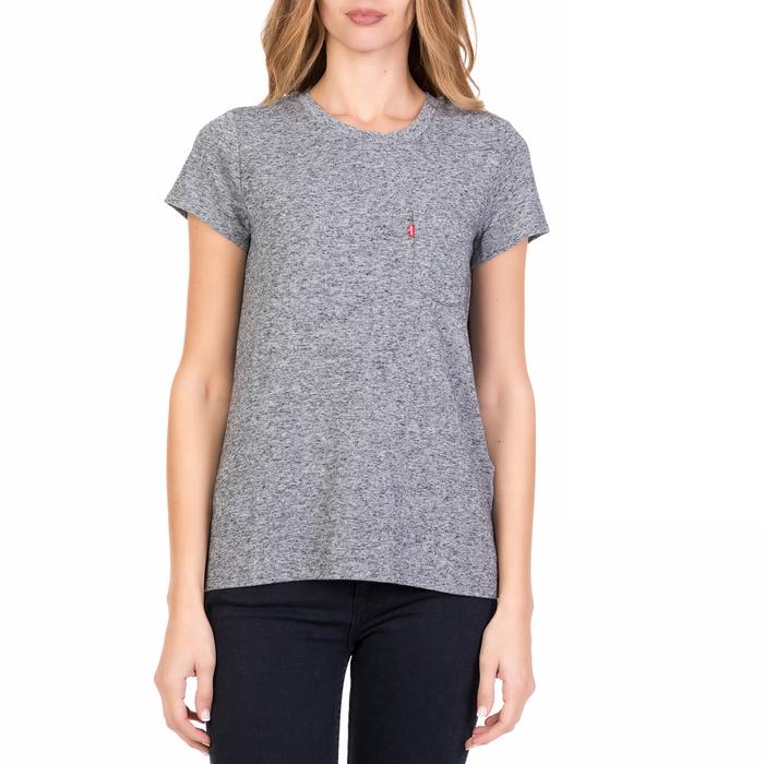 LEVI'S - Γυναικεία κοντομάνικη μπλούζα LEVI'S γκρι