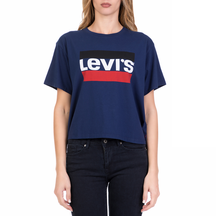 LEVI'S - Γυναικεία κοντομάνικη μπλούζα LEVI'S μπλε