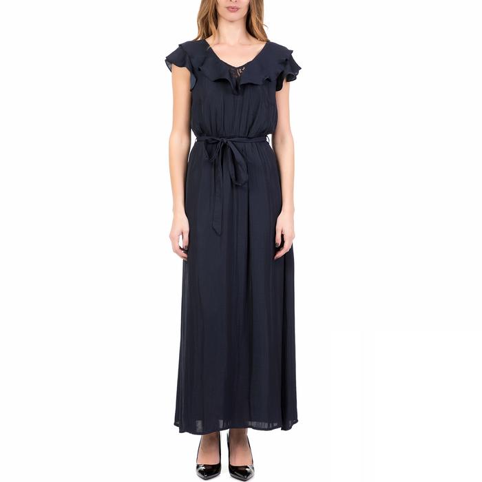 NAF NAF - Γυναικείο μάξι φόρεμα LABILLY NAF NAF μπλε